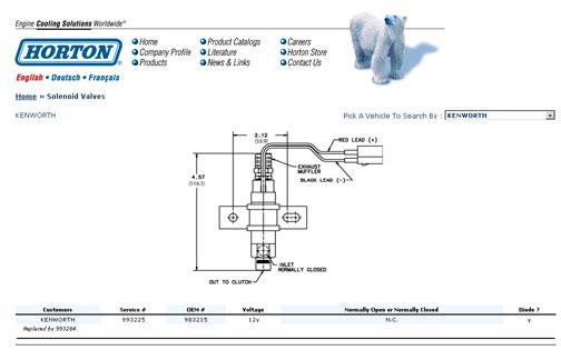 kenworth engine fan solenoid wiring diagram  1994 nissan